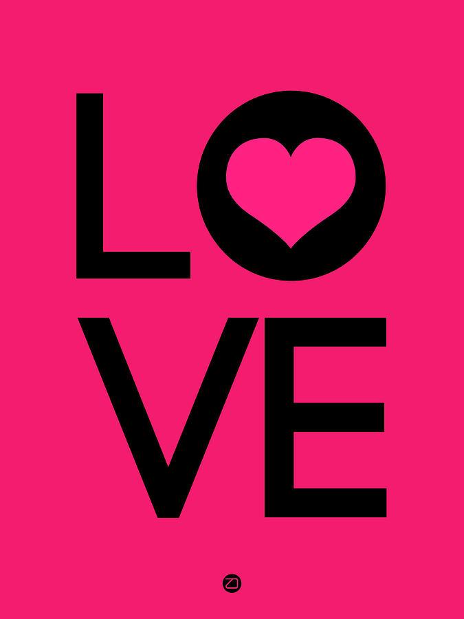 Love Digital Art - Love Poster 5 by Naxart Studio