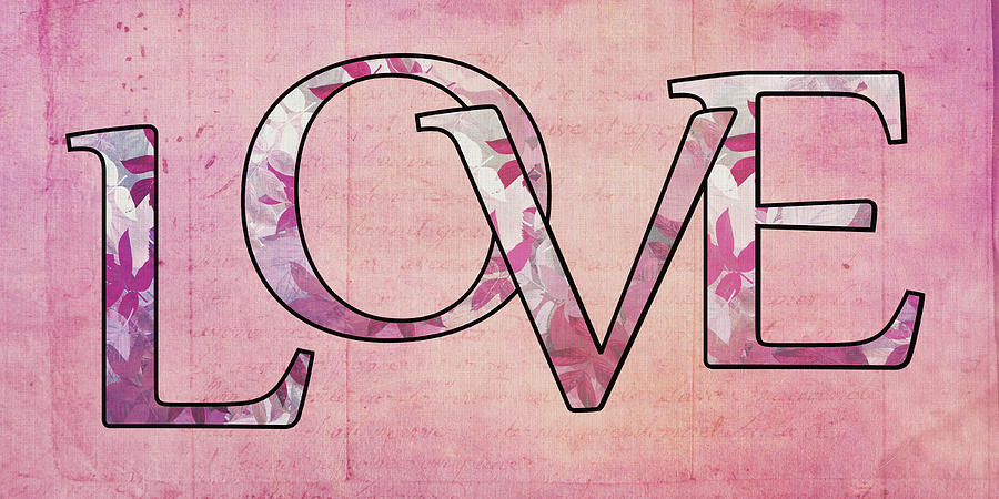 Love Digital Art - Love - S0102t by Variance Collections