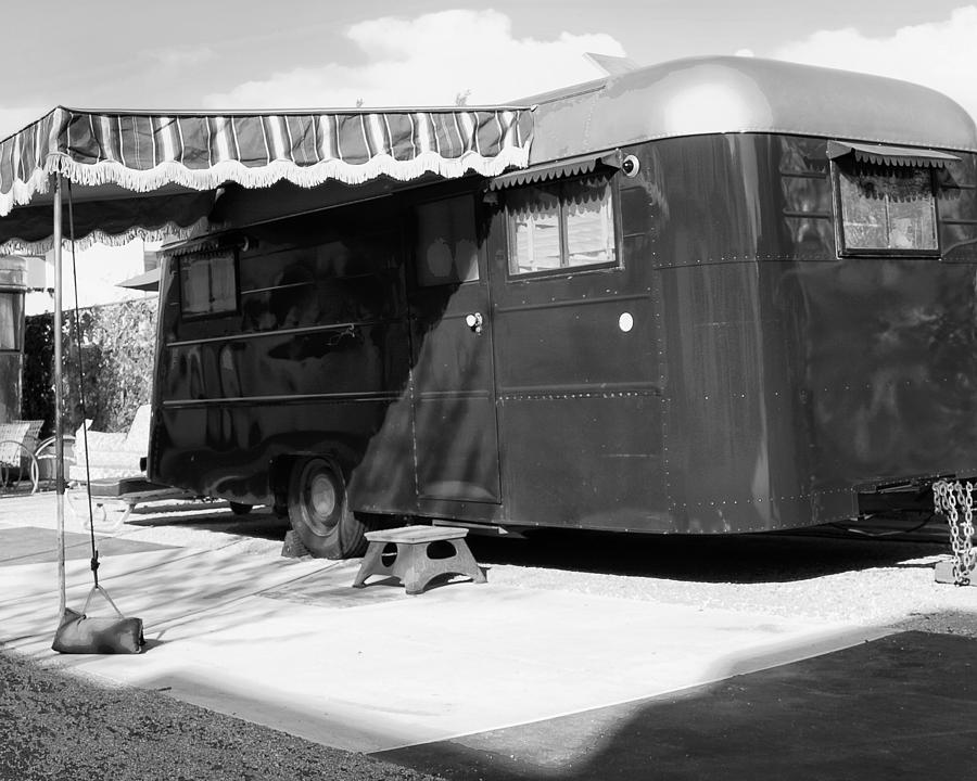 Palm Springs Photograph - Love Shack Bw Palm Springs by William Dey