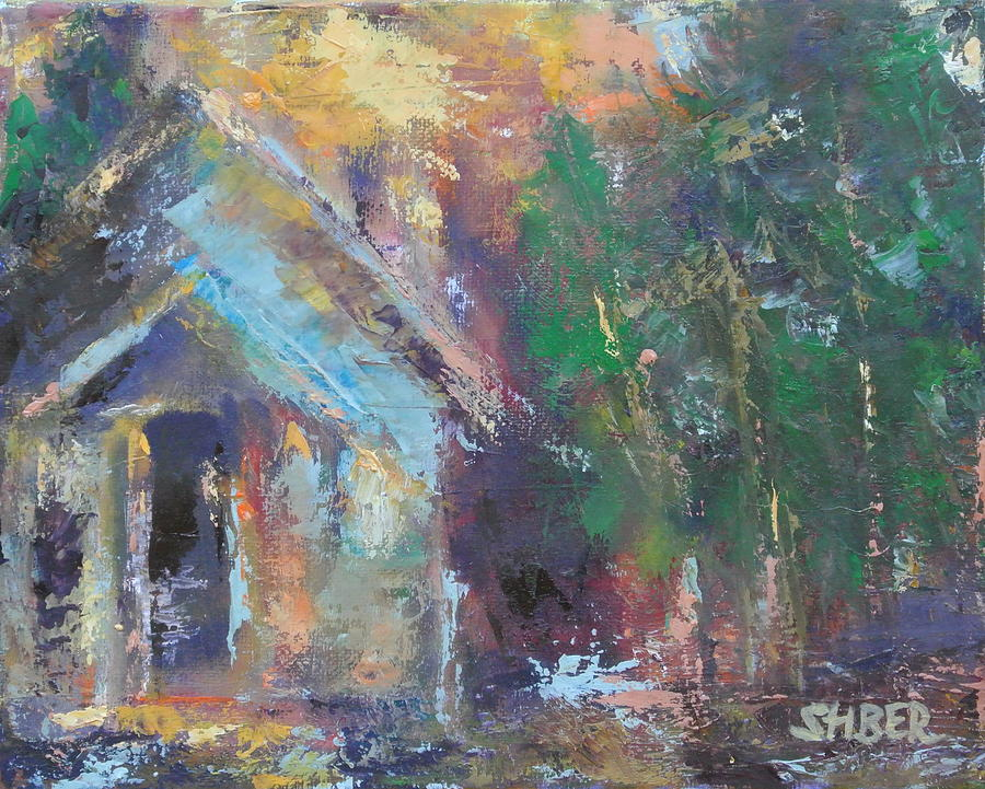 Oil Painting - Love Shack by Kathy Stiber