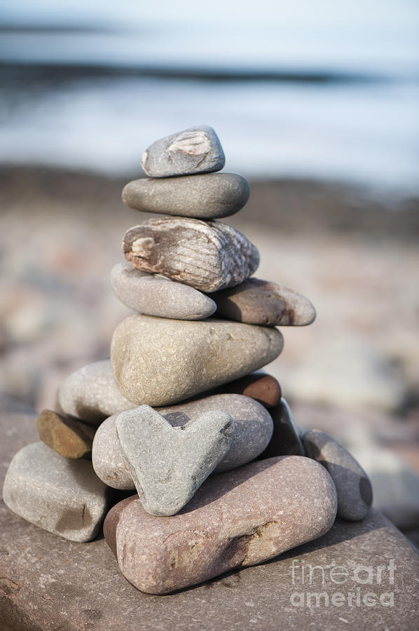 Artificial Photograph - Love Stack by Anne Gilbert