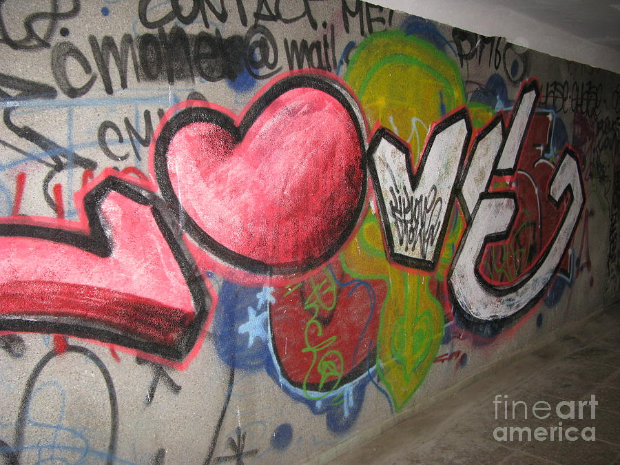 Graffity Photograph - Love. Street Graffiti by Ausra Huntington nee Paulauskaite