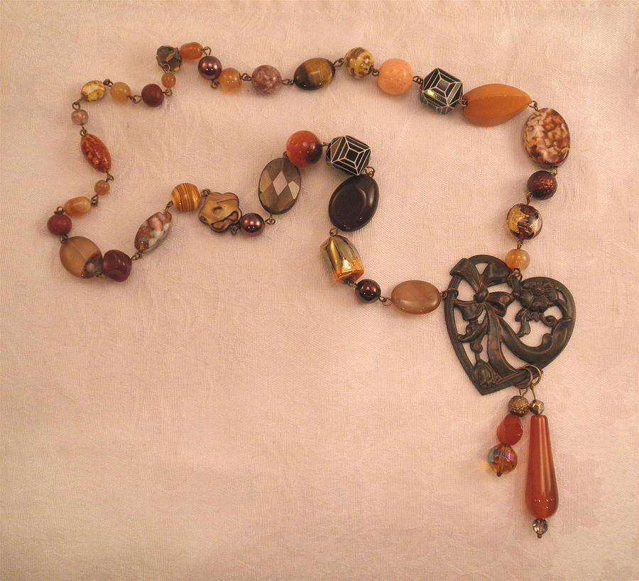 Love These Beads Heart Necklace by Outre Art  Natalie Eisen