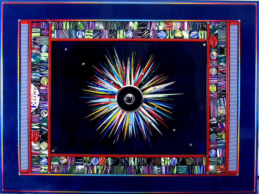 Glass Painting - Love To The World by Armand Elgrissy