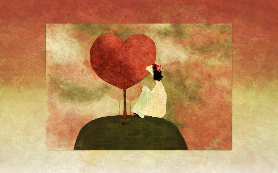 Tree Digital Art - Love Tree -01b by Variance Collections