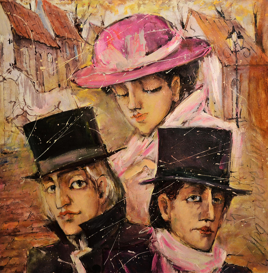 Love Painting - Love Triangle by Oleg  Poberezhnyi