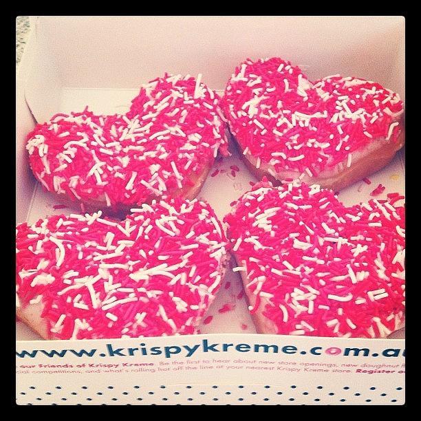 Heart Photograph - #love #valentinesday #krispykreme by Katie Ball
