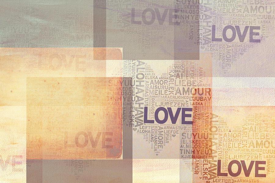 Love Photograph - Love. Vintage. Creamy Pastel by Jenny Rainbow
