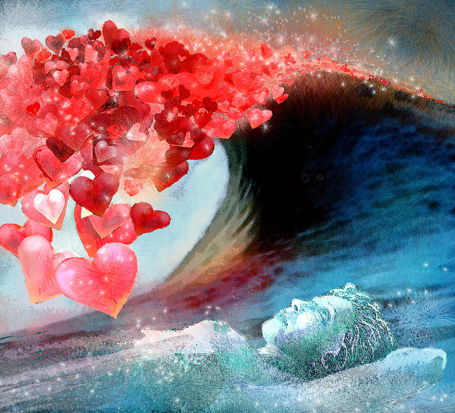 Love Wallpaper Painting : Love Wave Painting by Miki De Goodaboom