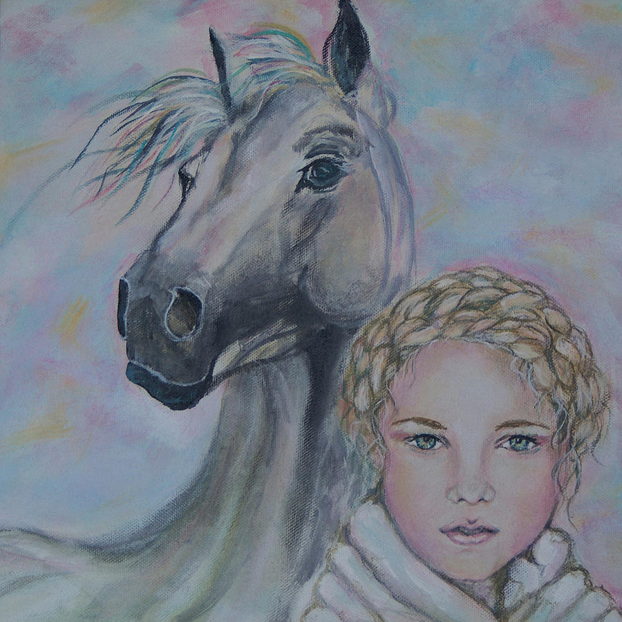 Horse Painting - Love Your Life by The Art With A Heart By Charlotte Phillips