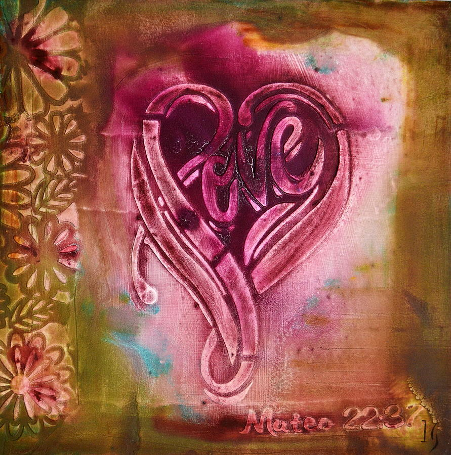 Heart Painting - Love Your Self by Ivan Guaderrama Art Gallery