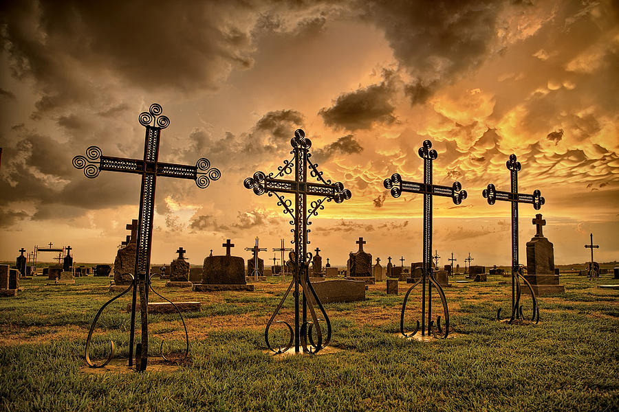 Cemetery Photograph - Loved Ones by Thomas Zimmerman