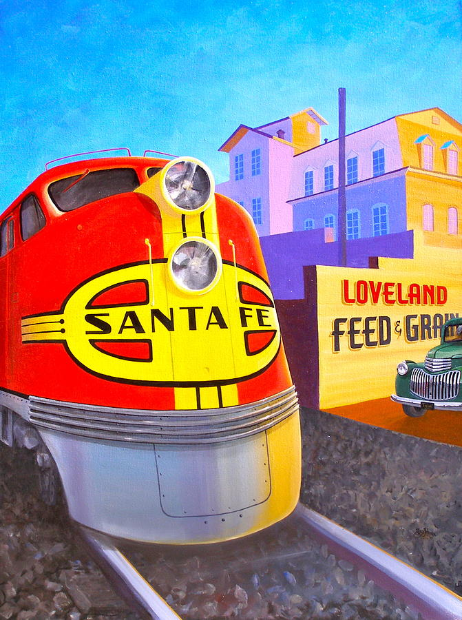 Loveland Painting - Lovelands Feed And Grain by Alan Johnson
