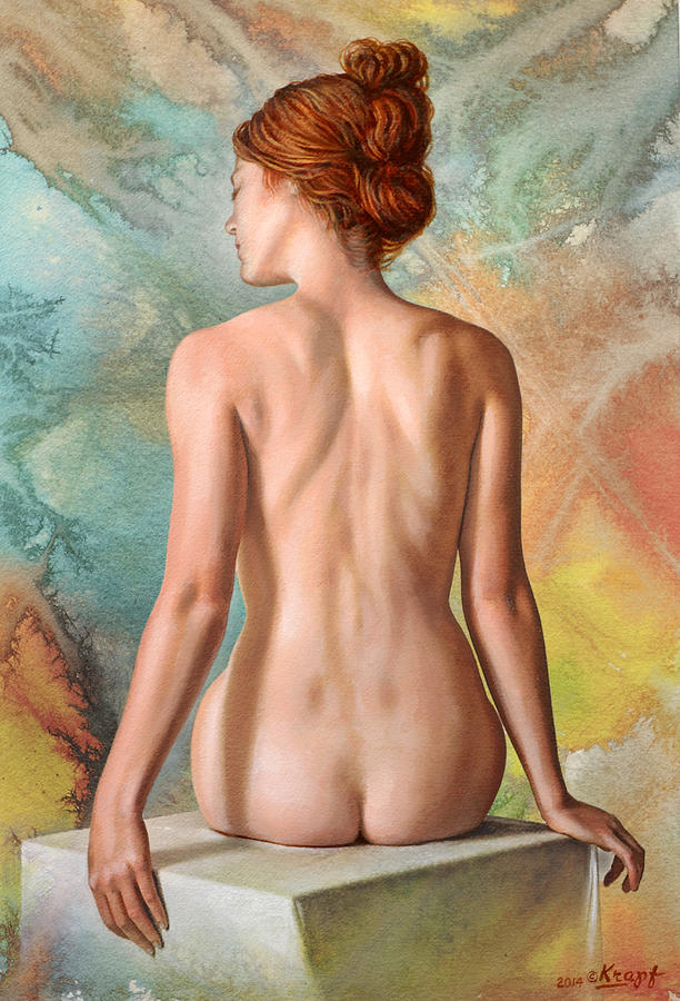 Figure Painting - Lovely Back-becca In Abstract by Paul Krapf