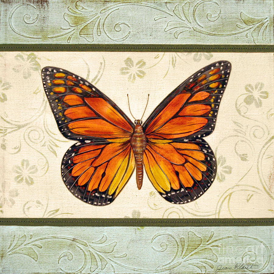 Lovely Butterfly-2 Painting by Jean Plout