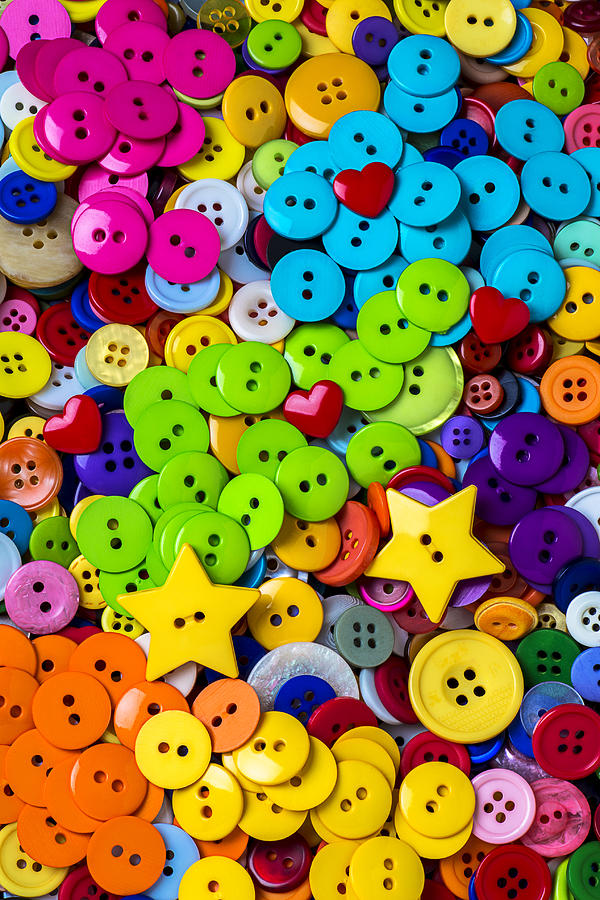Heart Photograph - Lovely Buttons by Garry Gay
