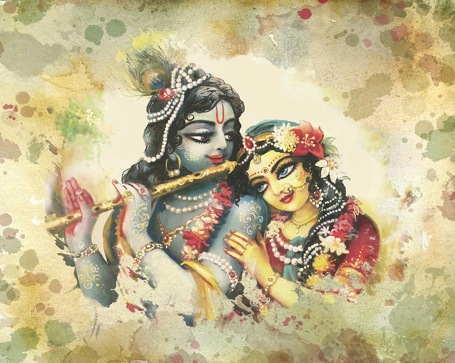 Radha-krishna Painting - Lovely Couple 2 by Lila Shravani