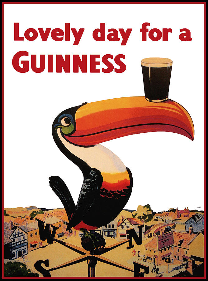 Guinness Toucan Digital Art - Lovely Day for a Guinness by Georgia Fowler