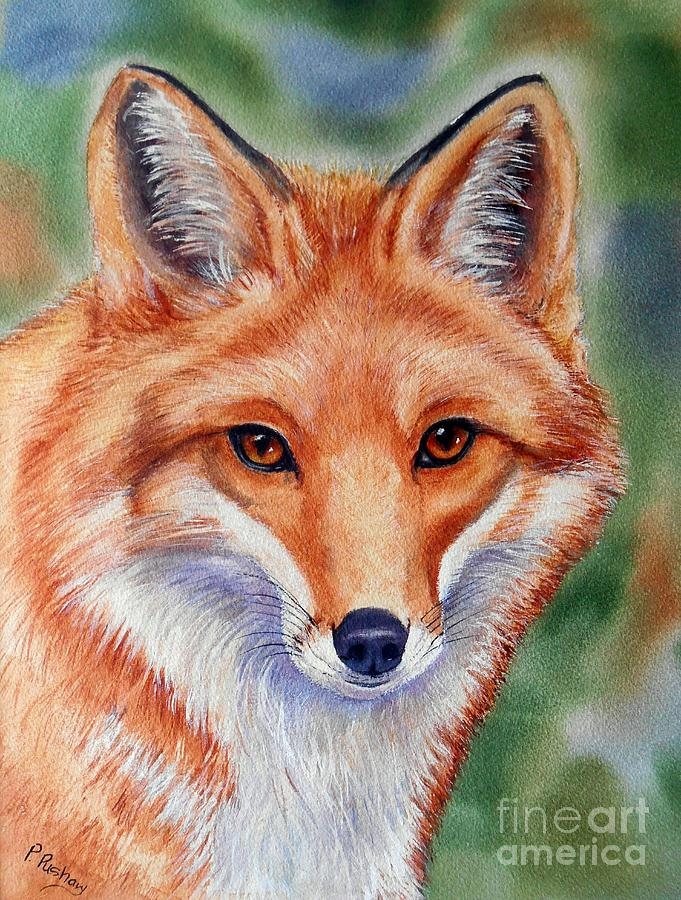 Red Fox Painting Painting - Lovely Lady by Patricia Pushaw
