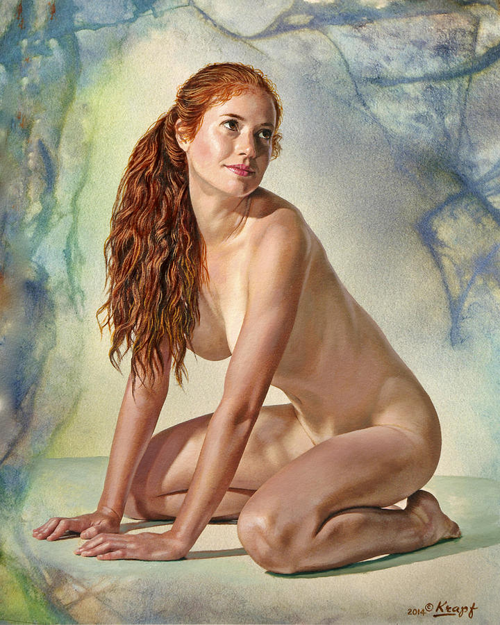 Nude Painting - Lovely Muse by Paul Krapf