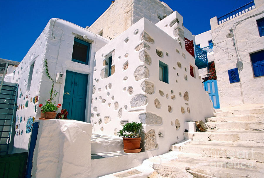 Astypalaia Photograph - Lovely Outer Wall by Aiolos Greek Collections