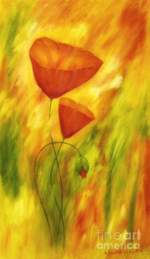 Abstract Painting - Lovely Poppies by Veikko Suikkanen