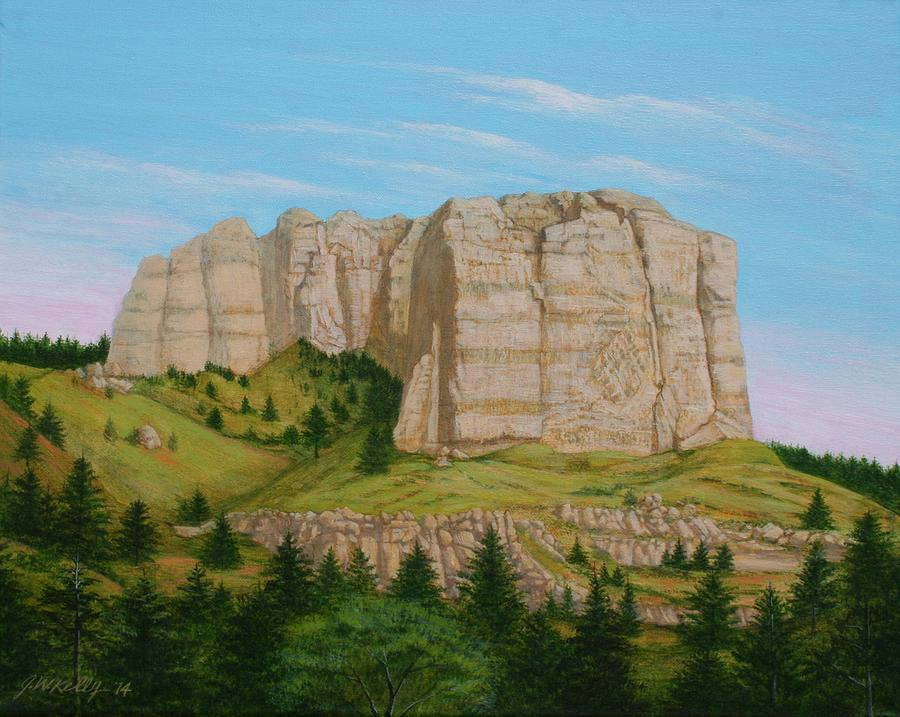 Lover's Leap Painting - Lovers Leap Butte by J W Kelly