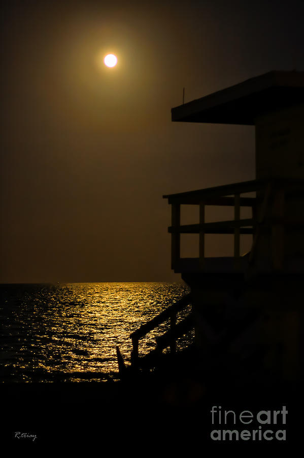 Miami Beach Photograph - Lovers Moon by Rene Triay Photography