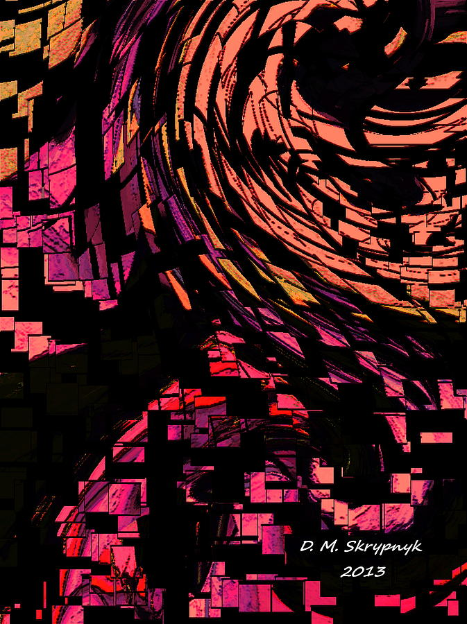 Skrypnyk Digital Art - Lovers Swirling by David Skrypnyk