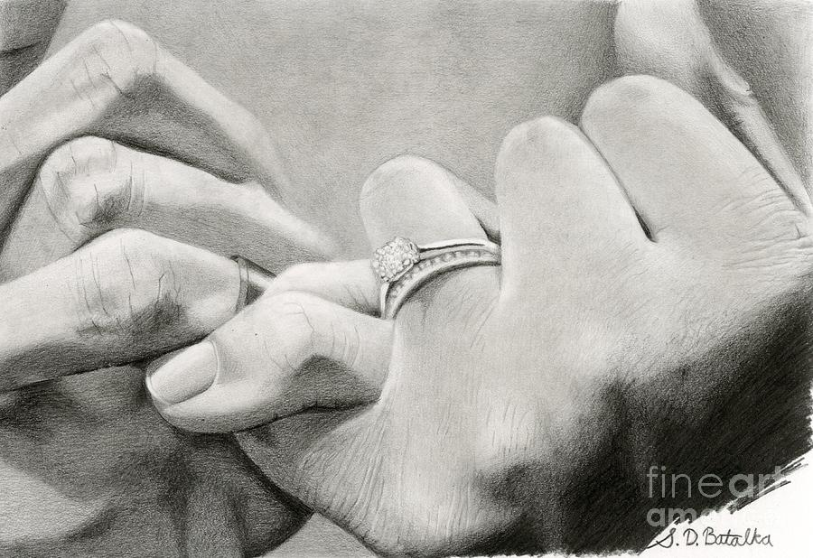 Engagement Drawing - Loves Promise by Sarah Batalka