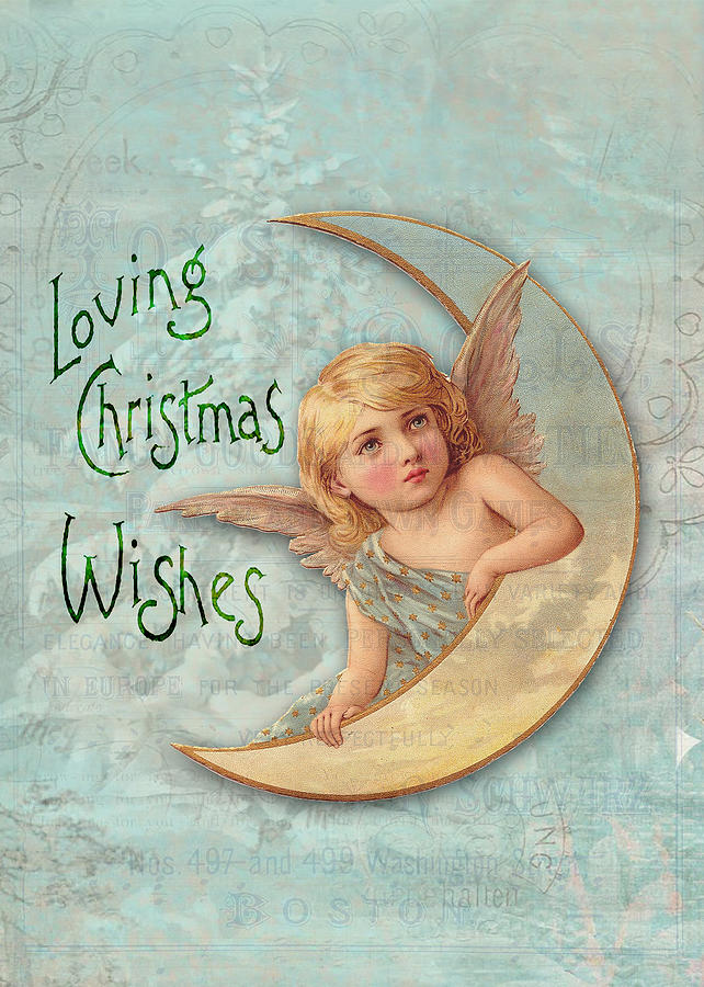 Loving Digital Art - Loving Angel Wishes by Sarah Vernon