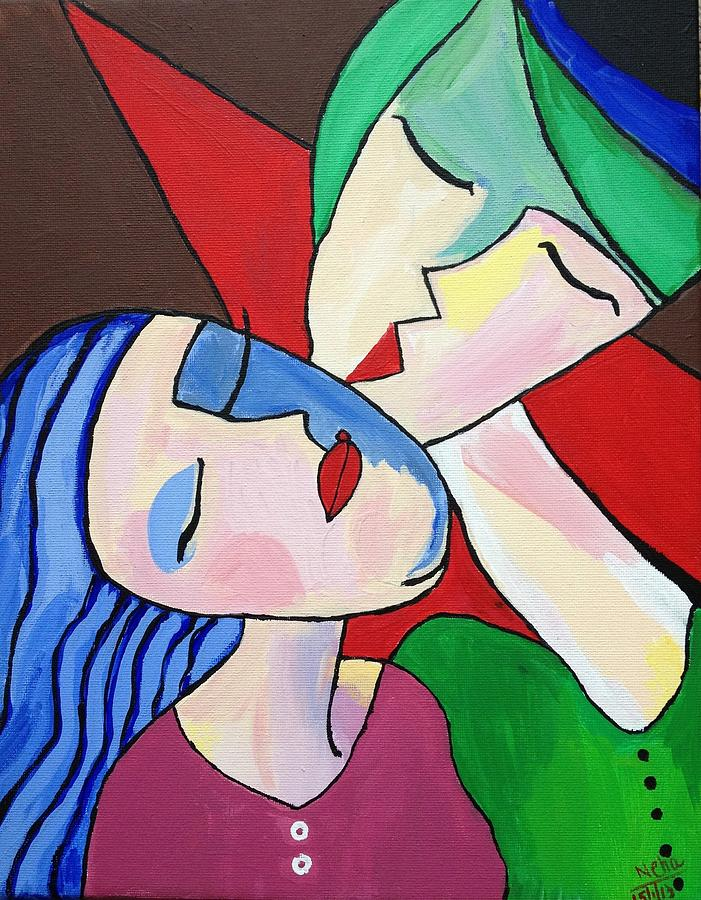 Loving Couples Painting by Neha  Shah