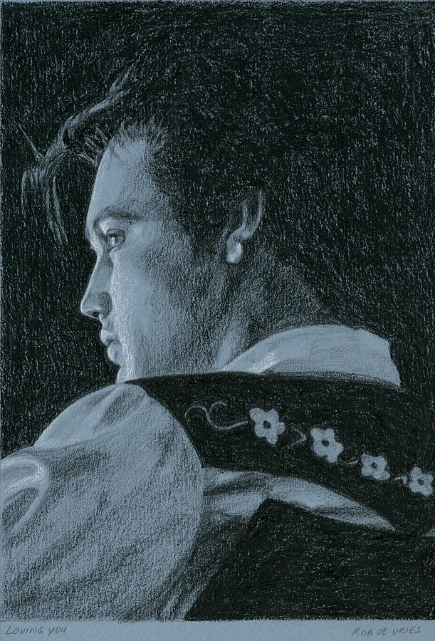 Elvis Drawing - Loving You by Rob De Vries