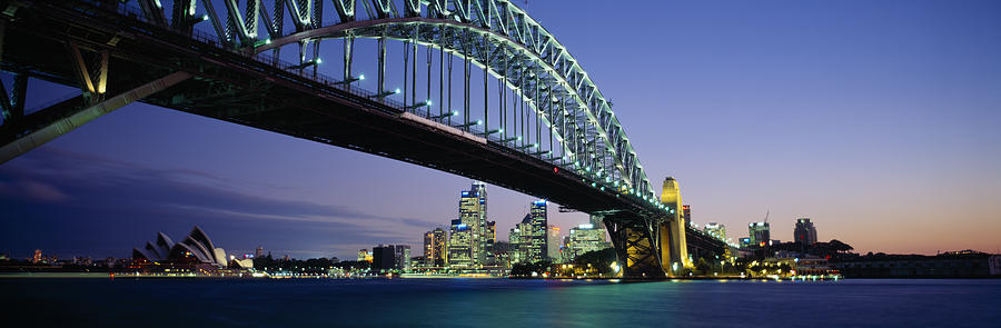 Color Image Photograph - Low Angle View Of A Bridge, Sydney by Panoramic Images