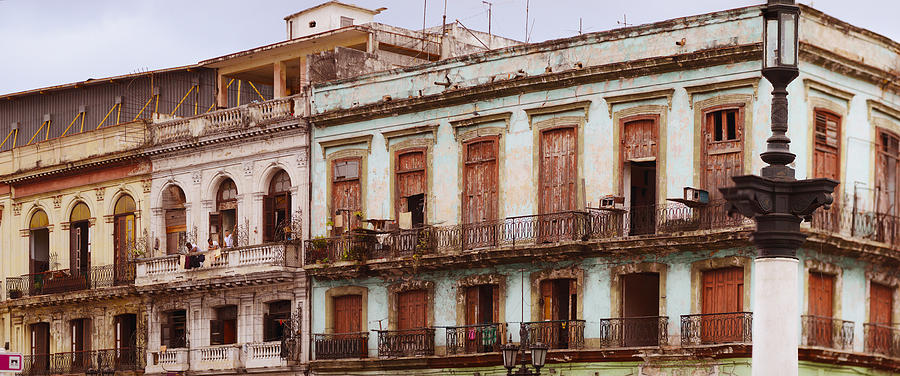 Color Image Photograph - Low Angle View Of Buildings, Havana by Panoramic Images