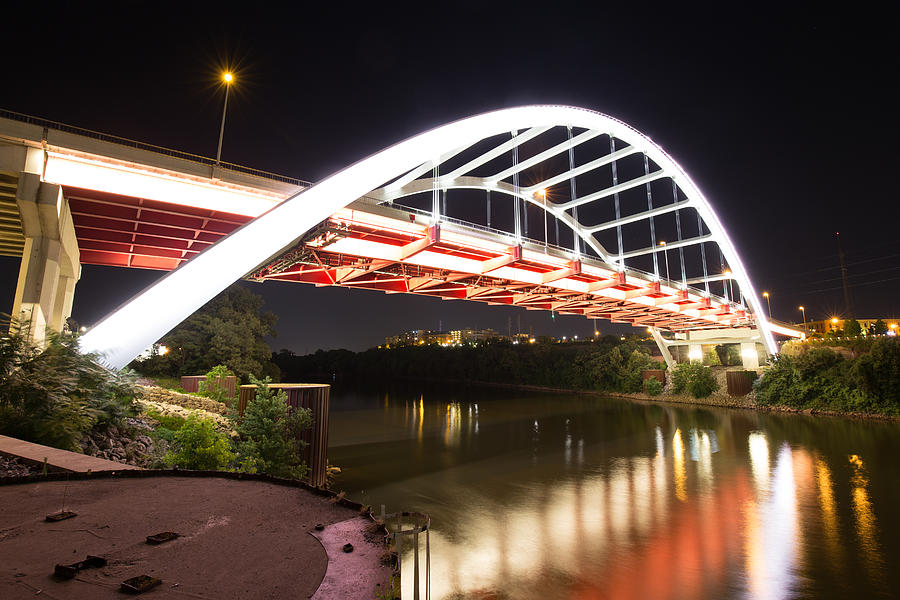 Low Angle View of Gateway Boulevard Bridge in Nashville, Tennessee, USA Photograph by Andriy Prokopenko