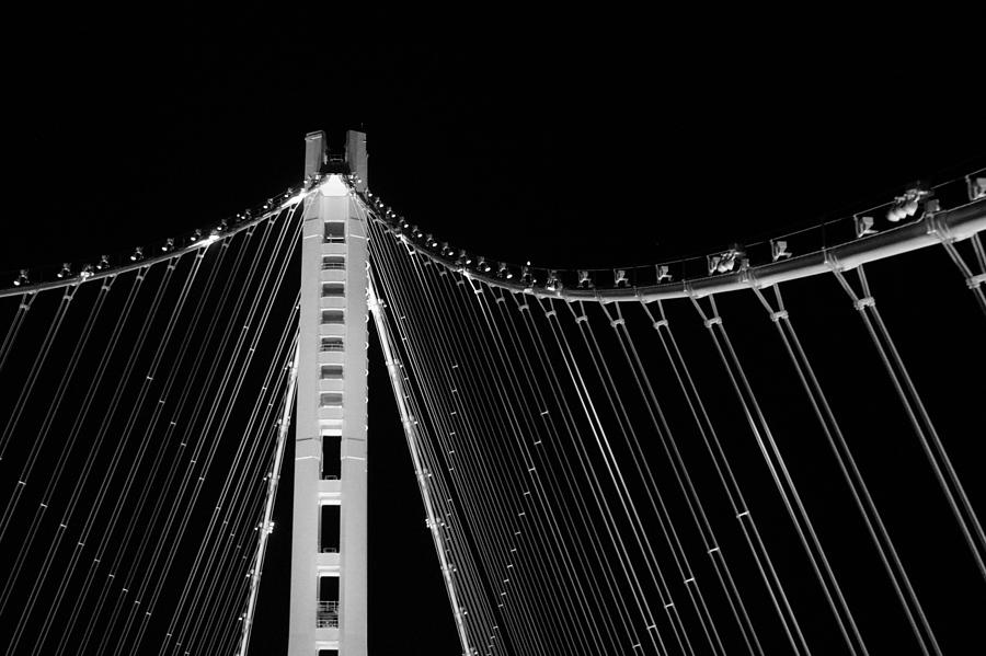 Low Angle View Of Illuminated Bridge Against Sky At Night Photograph by Jesse Coleman / EyeEm