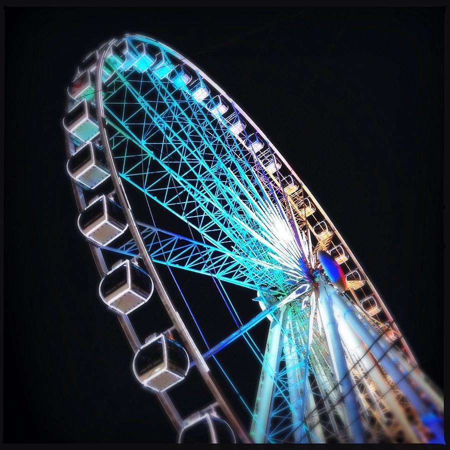 Low Angle View Of Illuminated Ferris Photograph by Kenneth Shelton / Eyeem