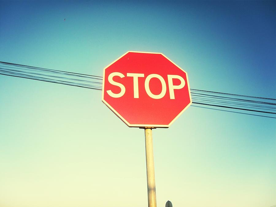 Low Angle View Of Stop Sign Photograph by Pedro Venâncio / Eyeem