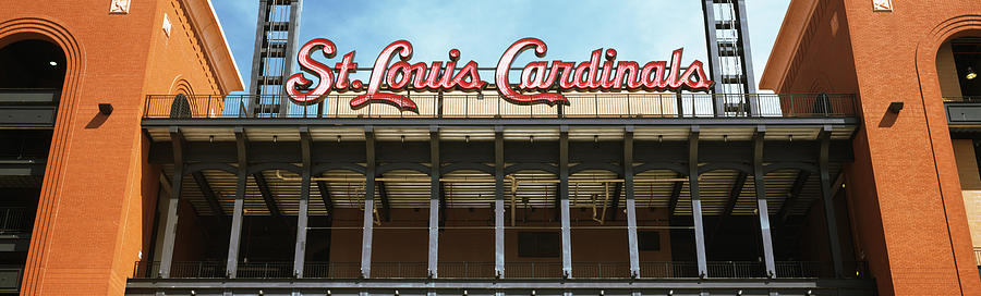 Color Image Photograph - Low Angle View Of The Busch Stadium by Panoramic Images