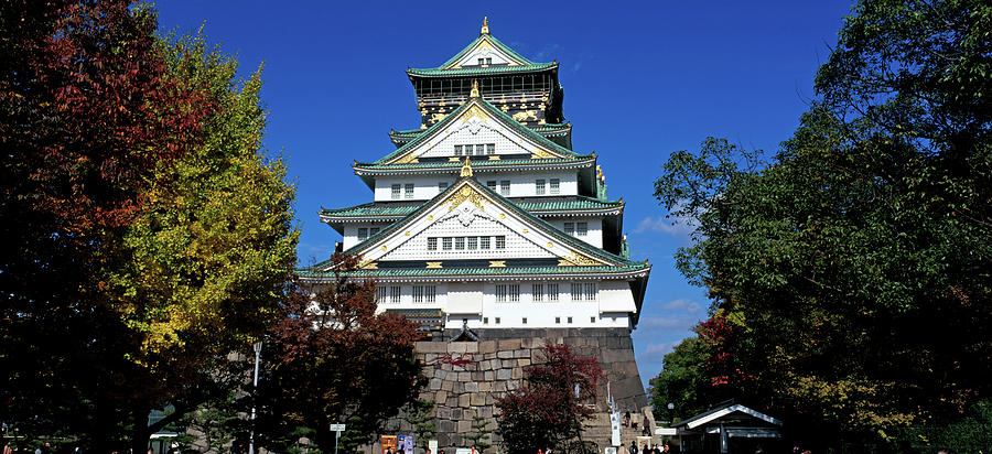Color Image Photograph - Low Angle View Of The Osaka Castle by Panoramic Images