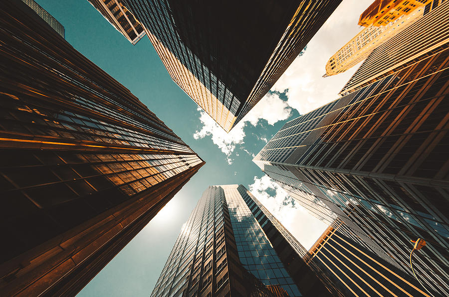 Low Angle View Of The Skyscrapers In Nyc Photograph by Franckreporter