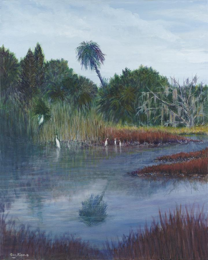 Landscape Painting - Low Country Social by Ben Kiger