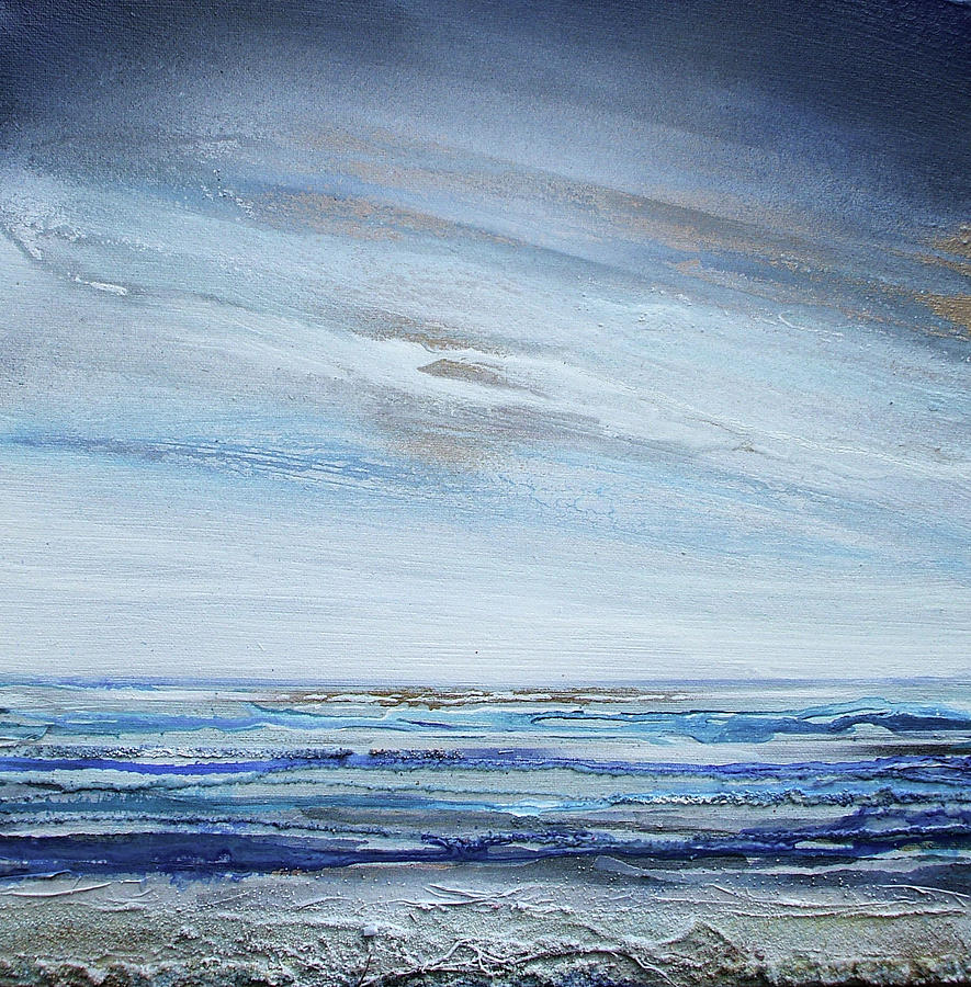 Beach Mixed Media - Low Newton Beach Rhythms And Textures 3 by Mike   Bell