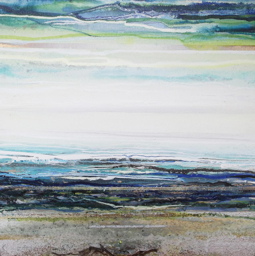 Sea Mixed Media - Low Newton Beach Rhythms And  Textures IIi by Mike   Bell