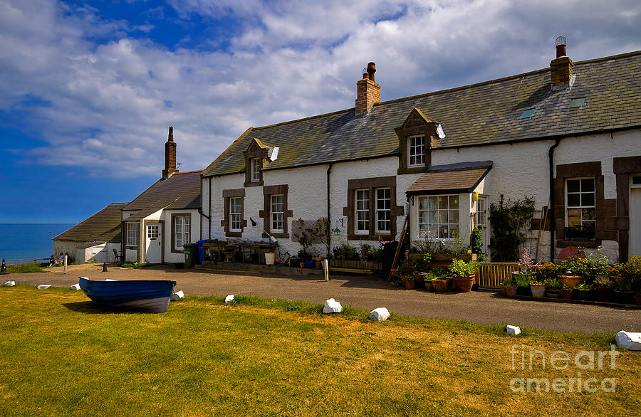 Travel Photograph - Low Newton By The Sea by Louise Heusinkveld