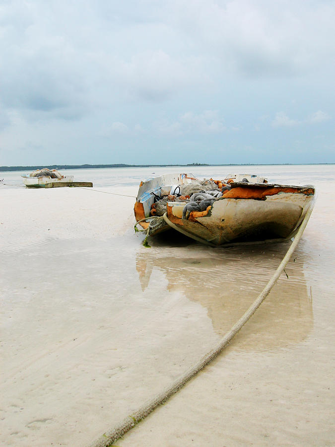 Boat Photograph - Low Tide 3 by Sarah-jane Laubscher