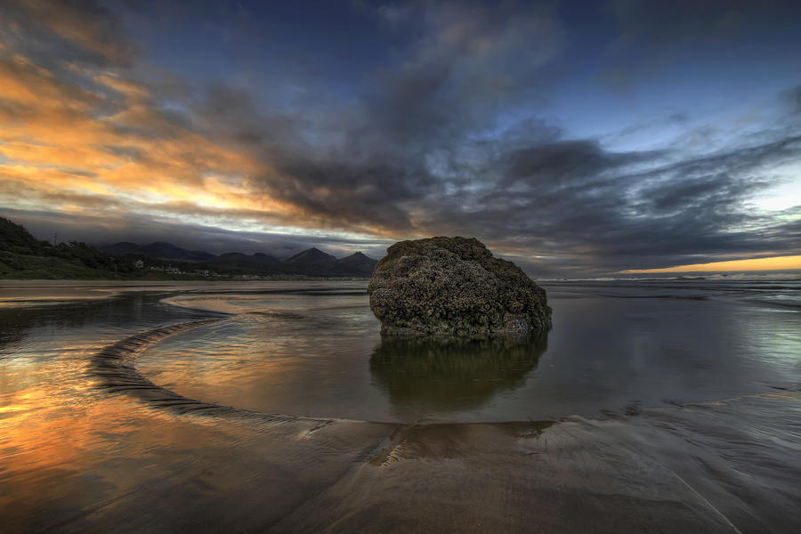 Sunrise Photograph - Low Tide at Cannon Beach Oregon by David Gn