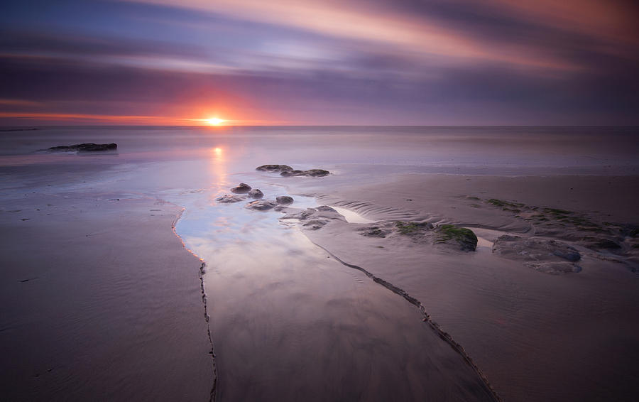 Canvas Photograph - Low Tide At Glyne Gap by Mark Leader