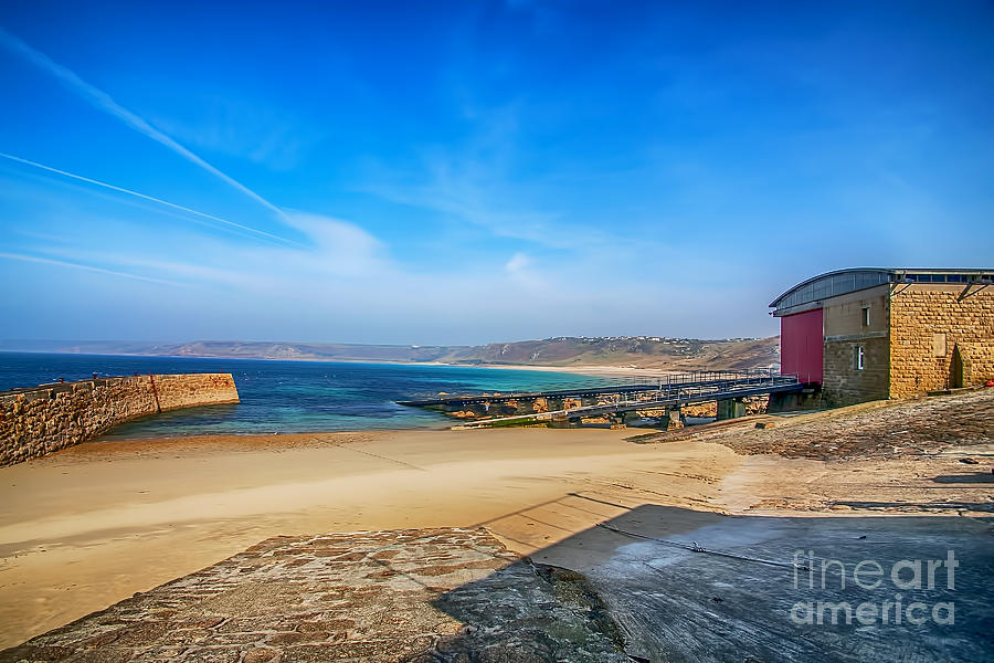 Atlantic Photograph - Low Tide At Sennen Cove 2 by Chris Thaxter